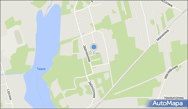 Grudziądz, Cyniowa, mapa Grudziądza