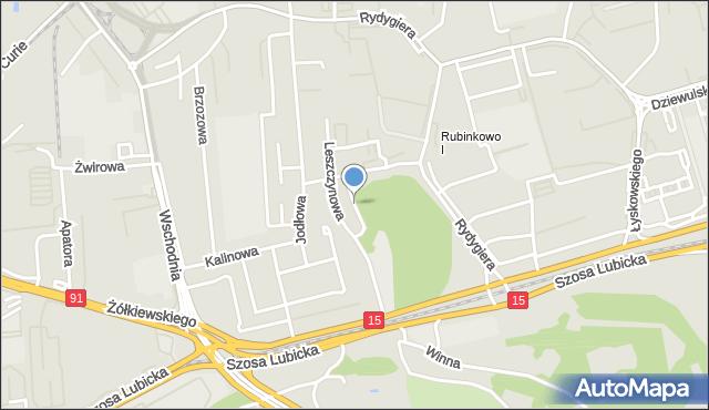 Toruń, Cyprysowa, mapa Torunia