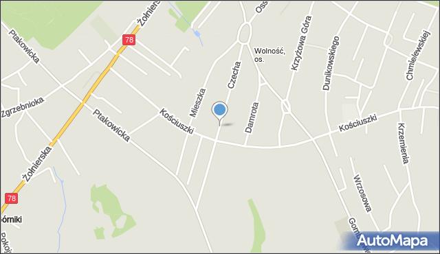 Bytom, Czecha Bronisława, mapa Bytomia