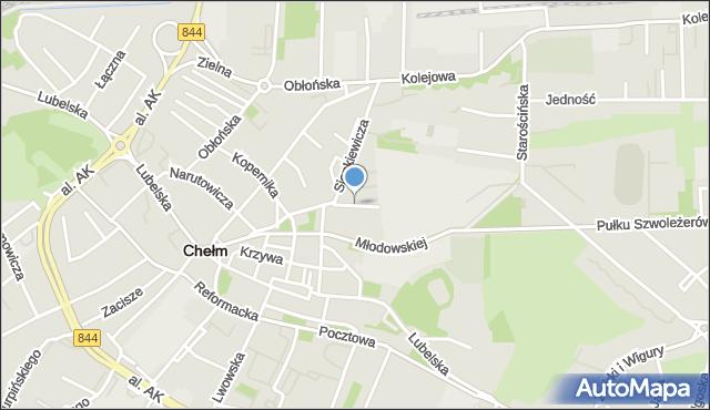 Chełm, Czarnieckiego Stefana, hetm., mapa Chełma