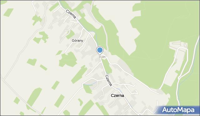 Czerna gmina Krzeszowice, Czerna, mapa Czerna gmina Krzeszowice