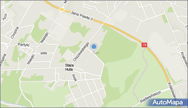 Jaworzno, Czarnieckiego Stefana, hetm., mapa Jaworzno