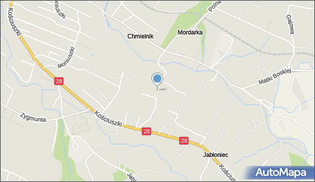 Limanowa, Czyżewskiego Tytusa, mapa Limanowa