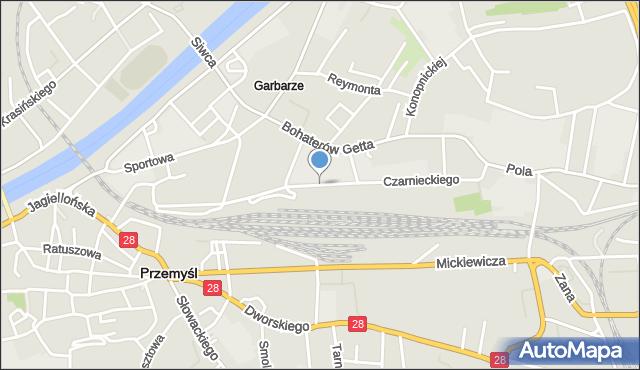 Przemyśl, Czarnieckiego Stefana, hetm., mapa Przemyśla