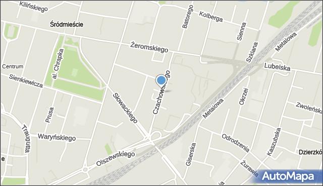 Radom, Czachowskiego Dionizego, płk., mapa Radomia