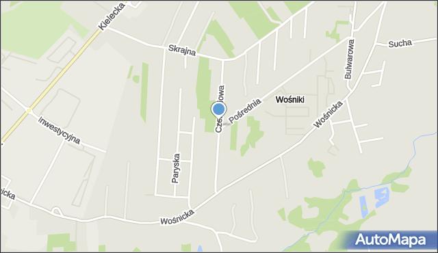 Radom, Czereśniowa, mapa Radomia