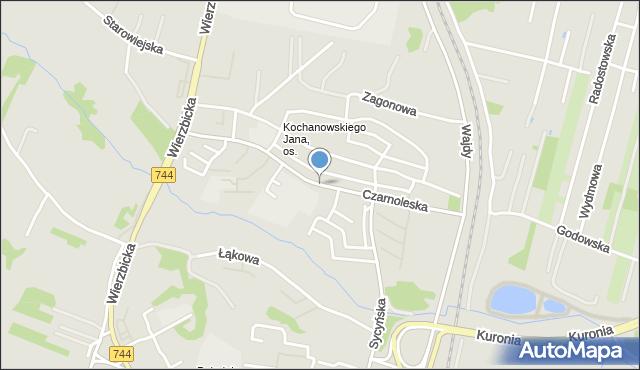 Radom, Czarnoleska, mapa Radomia
