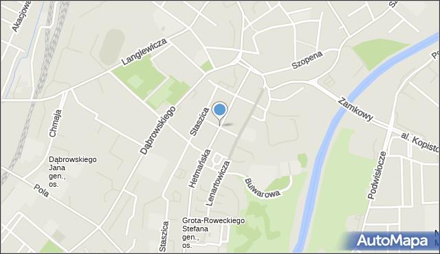 Rzeszów, Czackiego Tadeusza, mapa Rzeszów