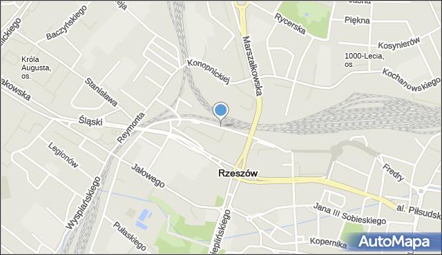 Rzeszów, Czarnieckiego Stefana, hetm., mapa Rzeszów