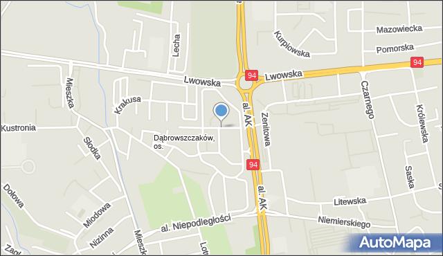 Rzeszów, Czecha Bronisława, mapa Rzeszów