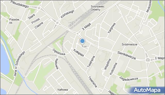 Sosnowiec, Czysta, mapa Sosnowca