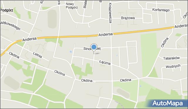Toruń, Czachowskiego Ludwika, mapa Torunia