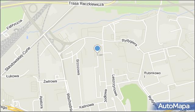 Toruń, Czereśniowa, mapa Torunia