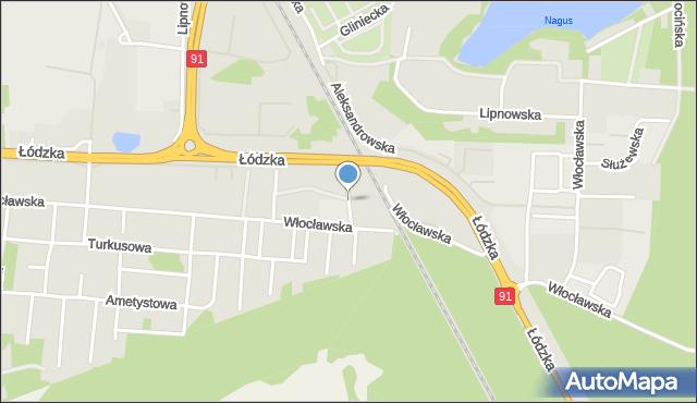 Toruń, Czerniewicka, mapa Torunia