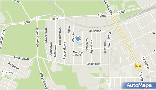 Toruń, Czysta, mapa Torunia