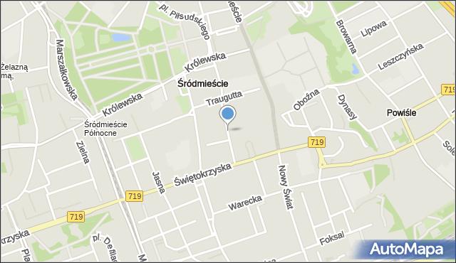 Warszawa, Czackiego Tadeusza, mapa Warszawy