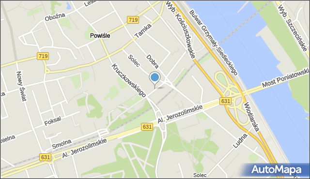Warszawa, Czerwonego Krzyża, mapa Warszawy