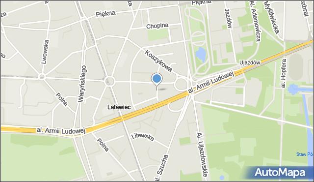 Warszawa, Czerwijowskiego Faustyna, mapa Warszawy