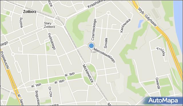 Warszawa, Czarnieckiego Stefana, hetm., mapa Warszawy