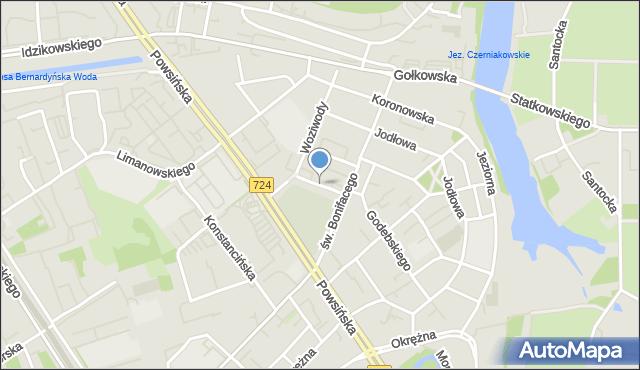 Warszawa, Czyżewska, mapa Warszawy