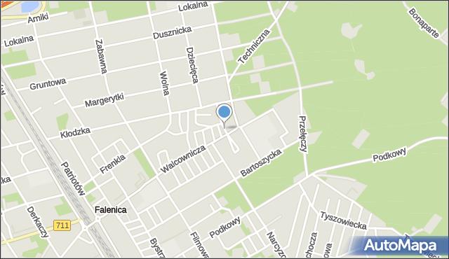 Warszawa, Czekanowska, mapa Warszawy