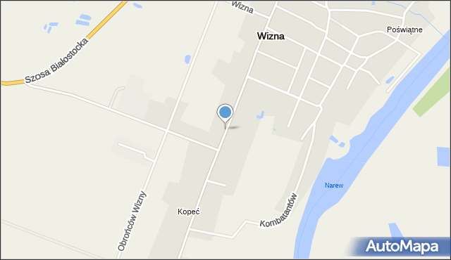 Wizna, Czarnieckiego Stefana, hetm., mapa Wizna