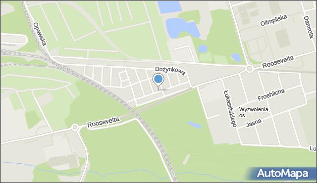 Zabrze, Czogały Emanuela, mapa Zabrza