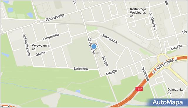Zabrze, Czołgistów, mapa Zabrza