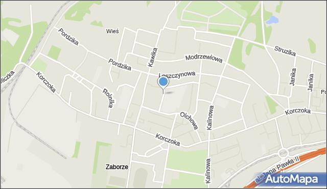 Zabrze, Czereśniowa, mapa Zabrza