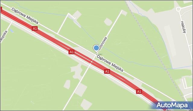 Bytom, Dąbrowa Miejska, mapa Bytomia