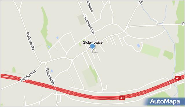 Bytom, Dąbrówki, mapa Bytomia