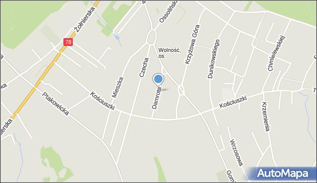 Bytom, Damrota Konstantego, mapa Bytomia