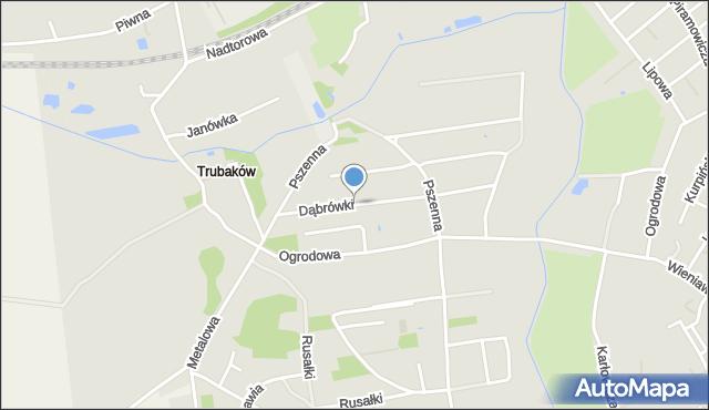 Chełm, Dąbrówki, mapa Chełma