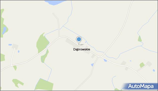 Dąbrowskie gmina Olecko, Dąbrowskie, mapa Dąbrowskie gmina Olecko