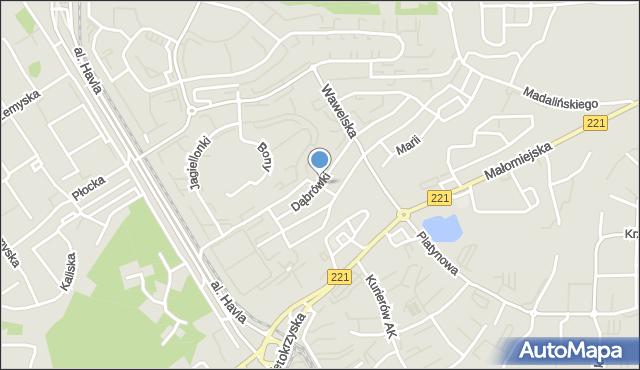 Gdańsk, Dąbrówki, mapa Gdańska
