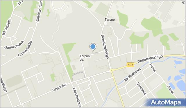 Grudziądz, Dąbrówki, mapa Grudziądza