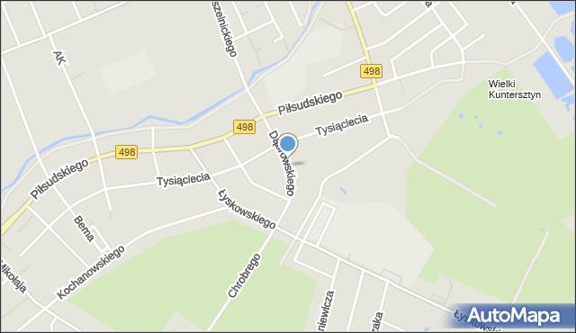 Grudziądz, Dąbrowskiego, mapa Grudziądza