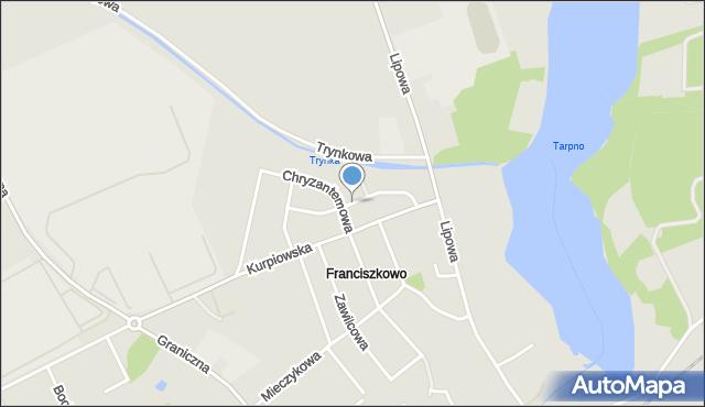 Grudziądz, Daliowa, mapa Grudziądza