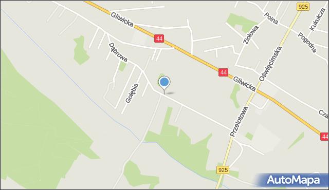 Mikołów, Dąbrowa, mapa Mikołów