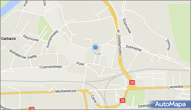 Przemyśl, Dąbrowskiego Henryka, gen., mapa Przemyśla