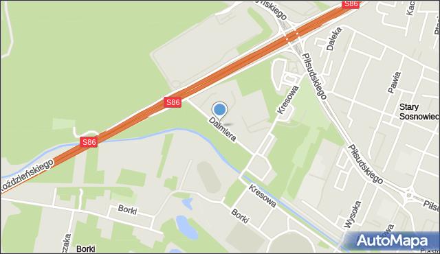 Sosnowiec, Daimlera Gottlieba, mapa Sosnowca