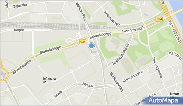 Warszawa, Dawidowskiego Alka, mapa Warszawy