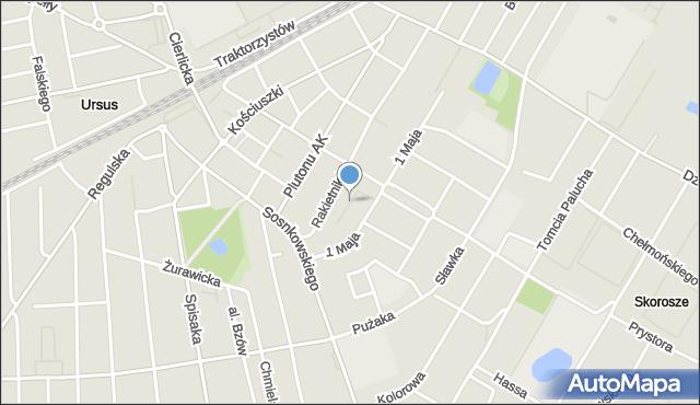 Warszawa, Dąbka Stanisława, płk., mapa Warszawy