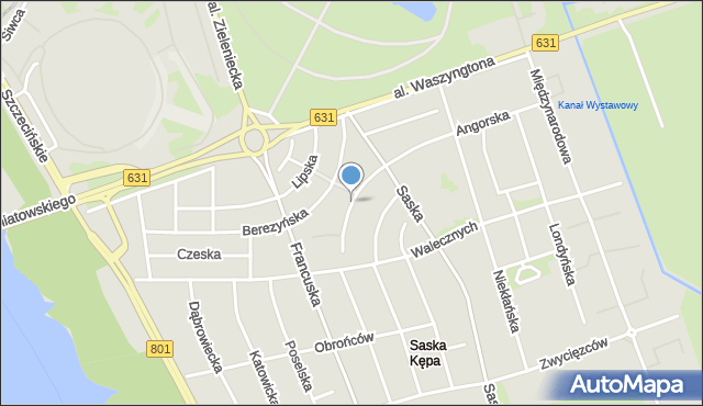 Warszawa, Dąbrówki, mapa Warszawy