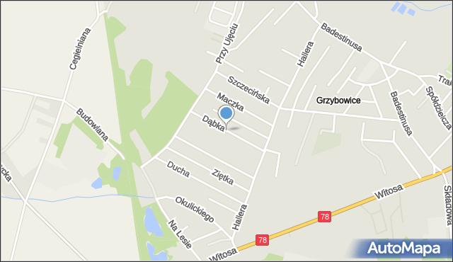 Zabrze, Dąbka Stanisława, gen., mapa Zabrza