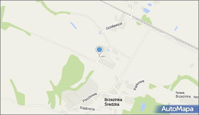 Brzezinka Średzka, Dębowa, mapa Brzezinka Średzka