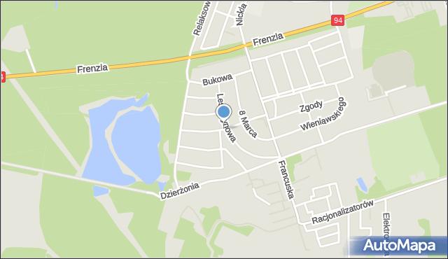 Bytom, Dębowa, mapa Bytomia