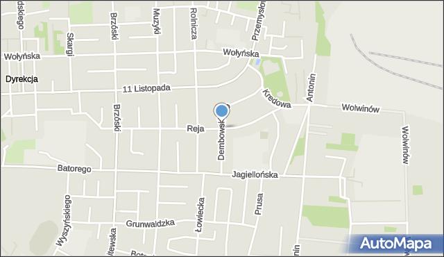 Chełm, Dembowskiego Edwarda, mapa Chełma
