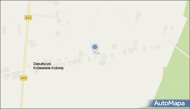 Depułtycze Królewskie-Kolonia, Depułtycze Królewskie-Kolonia, mapa Depułtycze Królewskie-Kolonia