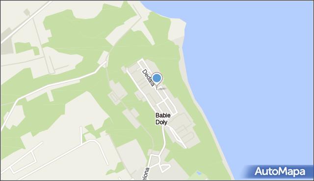 Gdynia, Dedala, mapa Gdyni